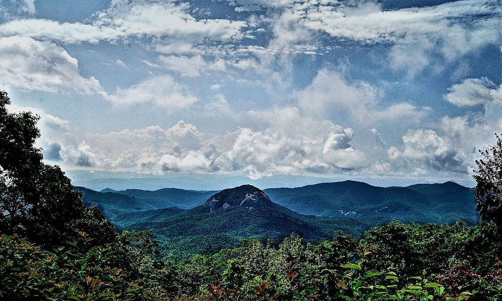 View of Looking Glass Rock off of the Blue Ridge Parkway.