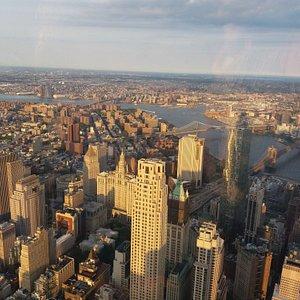 Vista de Manhattan e Brooklin