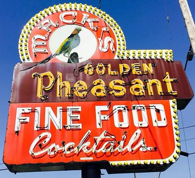front signage for Mack's Golden Pheasant