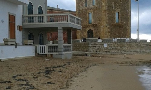 Montalbano's terrace at Punta Secca in November