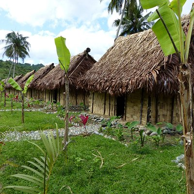 Painstakingly handcrafted bures (huts) using traditional Fijian building methods and materials.