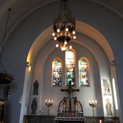 Den svenske kirke Gustafskyrkan blev opført i 1911 og er et fint eksempel på Jugendstil