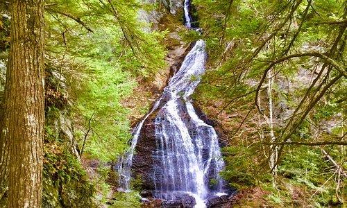 Moss Glenn Falls- well over 100' tall IMHO