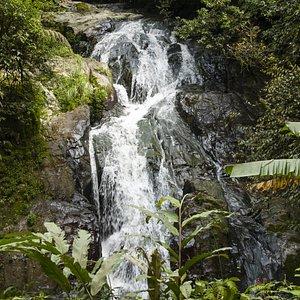 Een van de watervallen