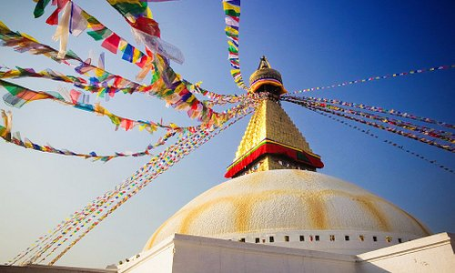 Boudhanath Stupa is the largest Buddhist stupa in Nepal. Tour with Breakfree Adventures