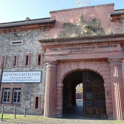 マインツ・カステル駅側のミュージアムの入口