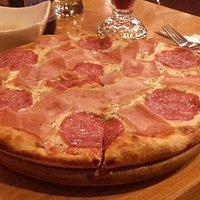 una riiiiica pizza individual.