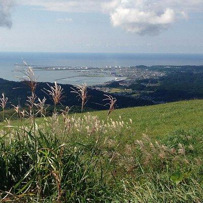 Mt. Kanpu view of Funakawa, Oga