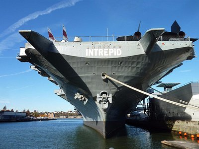 View of Intrepid's Bow