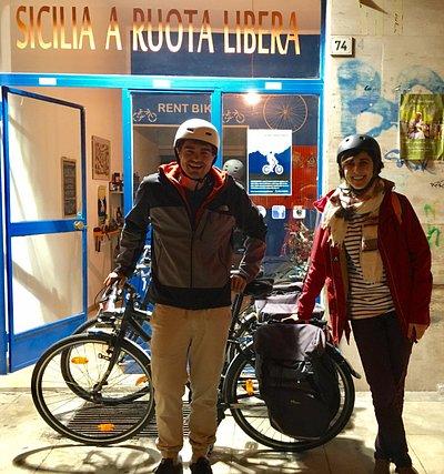 Da Parigi per scoprire la Sicilia con le bici noleggiate da Sicilia a Ruota Libera!!!