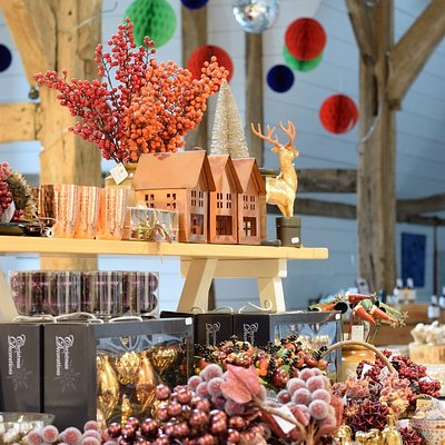 Restored barn, Christmas decorations and gifts