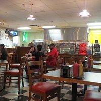 Dinning area. Retro cafe style