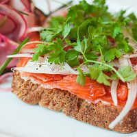 Tartine of Cured Trout with Chervil