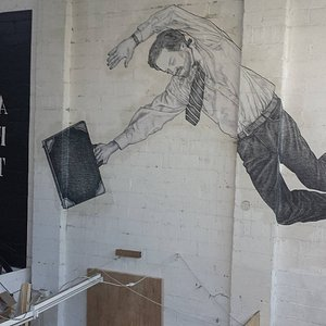 Artwork on the walls of Blender Studios