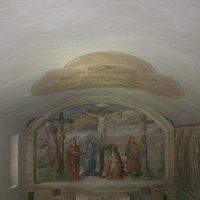 Oratorio dei Battenti, Crocifissione. Chiesa S. Michele Arcangelo, Sermoneta