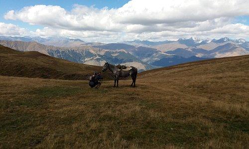 Поход на лошадях к озеру