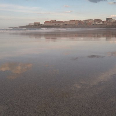 foto desde playa Salseiras en Caion