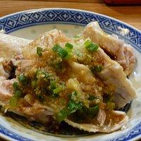 小皿料理:蒸し鶏の生姜ネギソース 美味しかった!