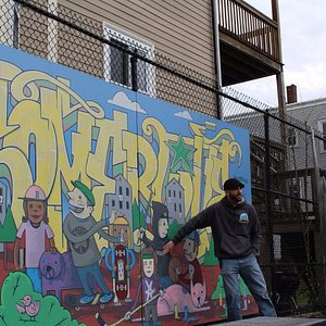 Somerville Walking Tour: Mark discusses community activism and the story behind this mural.