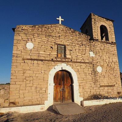 Early morning light hitting the Mission Church at San Ignacio built by Jesuit Priests.