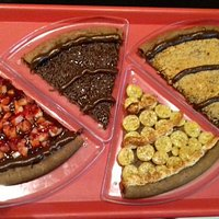 Essas são as pizzas doces que pedimos! Maravilhosas!!!