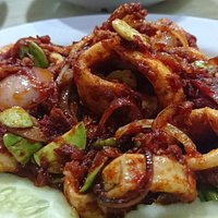 Sambal squid with petai