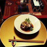 キノコの前菜カルパッチョ風。