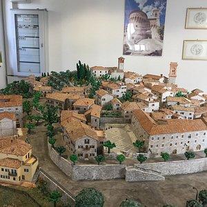 modello del borgo di corciano umbria
