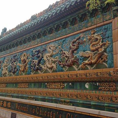 Nine Dragon Wall - Chinatown Chicago