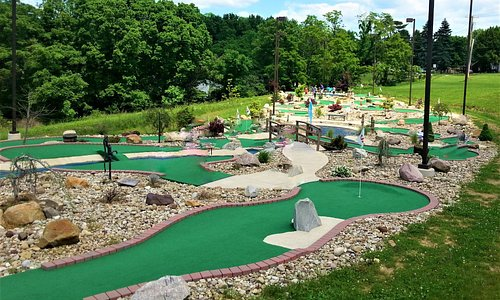 A view of the mini golf course...