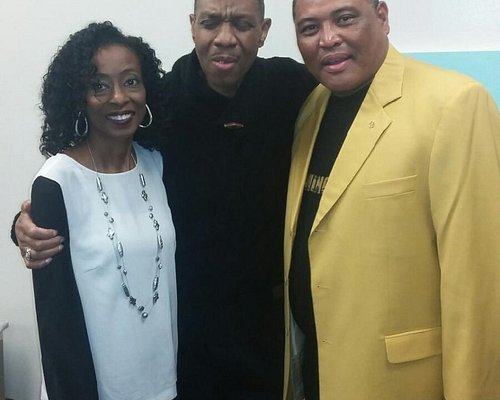 With R&B legend Freddie Jackson backstage at the Jo Long Theater inside the Carver Community Cen