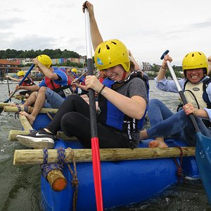 Raft Building - A great team challenge.