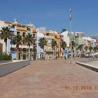 Promenade Villajoyosa rechts Playa el Torres