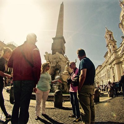Small group tour of Rome underground - stop at Piazza Navona