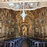 You will see similar in the Recife's Golden Chapel and Salvador's São Francisco Church
