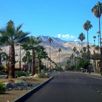 View at the end of Palm Canyon Drive