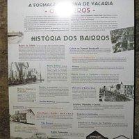 História dos bairros.