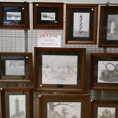 Mouth Drawings by Bruce Dellinger at the Art and Craft show Nov. 26 & 27, 2016