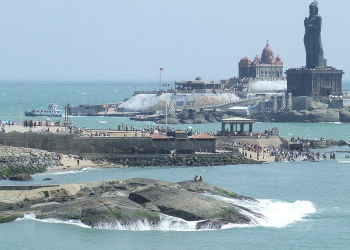 Thiruvalluvar Statue and the Vivekananda Rock Memorial.