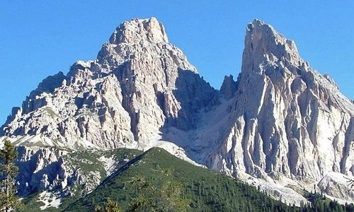 Monte Cristallo (3221 m) e Piz Popena (3152 m)