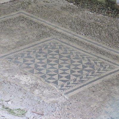 Фрагмент античной напольной мозаики