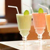 Sweet Mint, Strawberry and Mango Lassi