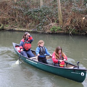 Winter paddling on the River Stort
