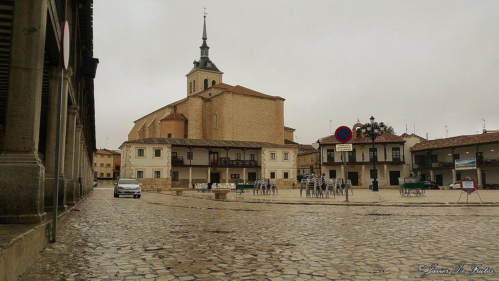 La Plaza Mayor en un día lluvioso