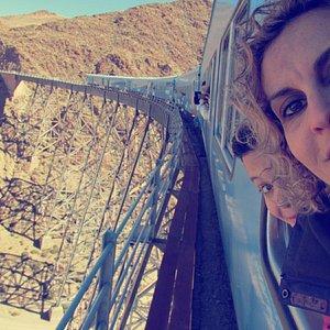Viaducto La Polvorilla... una sensación única...sobre los rieles a 4200 msnm...salimos de San An