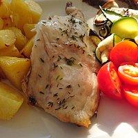 Filetto1 di orata al forno con verdure