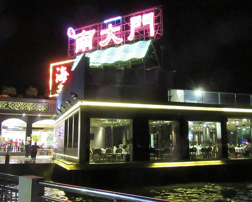 Two of the many restaurants in Lei Yue Mun.