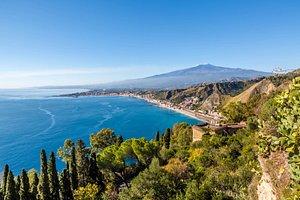 Vue Etna depuis Taormina