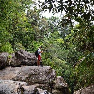 High above la Mina Waterfall