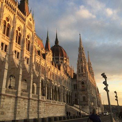 Coucher de soleil sur le Parlement